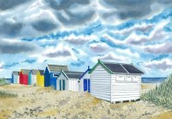 Beach Huts, Southwold - Limited Edition Print