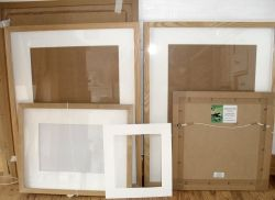 Frames in my studio!
