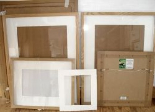 Frames in my studio!
