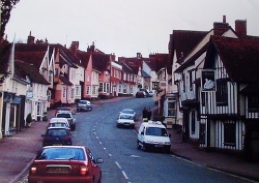 Lavenham High Street, Suffolk, England