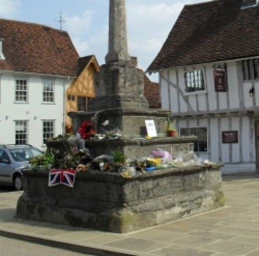 Lavenham Village Cross, Suffolk. Photograph copyright Michele Webber