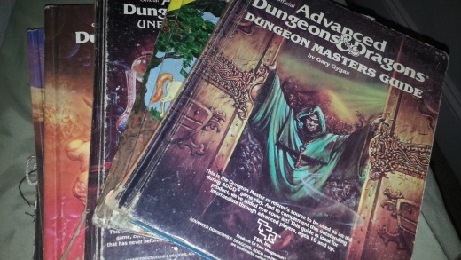My Advanced D&D books- first edition, of course