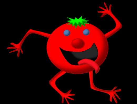 Happy Red Tomato