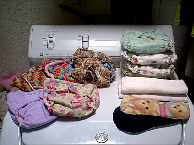 Diapers on the dryer