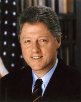"#42 William (Bill) J. Clinton: ""Don't Stop Thinking About Tomorrow. Putting People First. Building a Bridge to the 21st Century."
