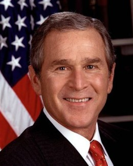"#43 George W. Bush: ""Compassionate Conservatism. Leave No Child Behind. Real Plans For Real People. Reformer With Results."""