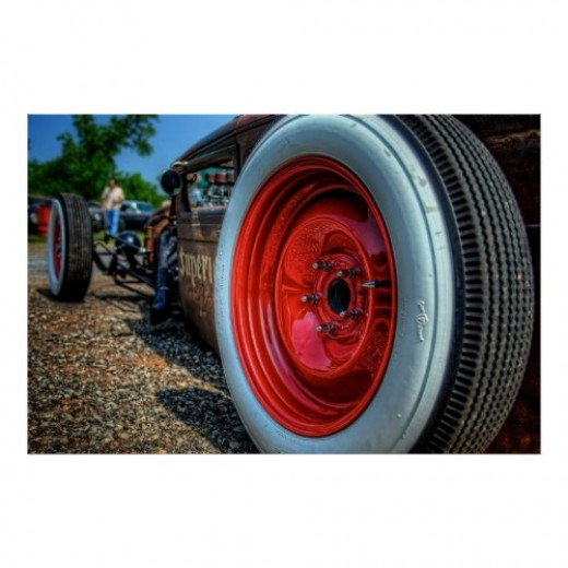 White Walls and Red Wheels