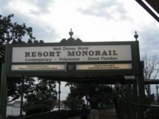 Resort Monorail Sign - Magic Kingdom