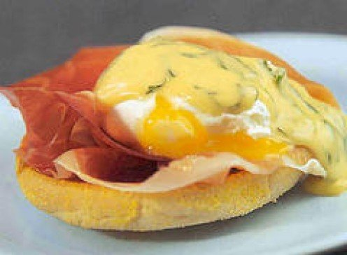 Traditional Eggs Benedict.
