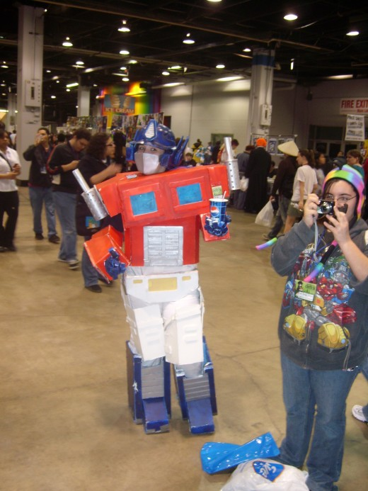 Optimus Prime with Soda!