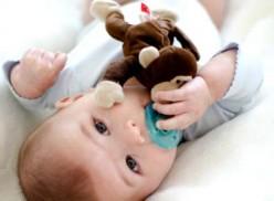 Wubbanub Infant Plush Toy Pacifier Monkey