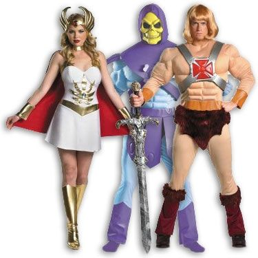 He-Man, She-Ra and Skeletor costumes