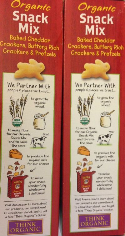 Annie's Organic snacks for kids lunches