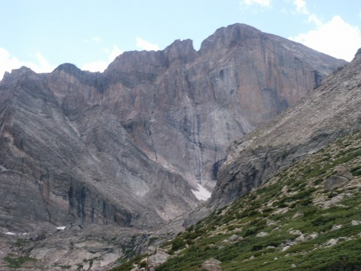 God has put beauty into His creation. This is Long's Peak's diamond face.