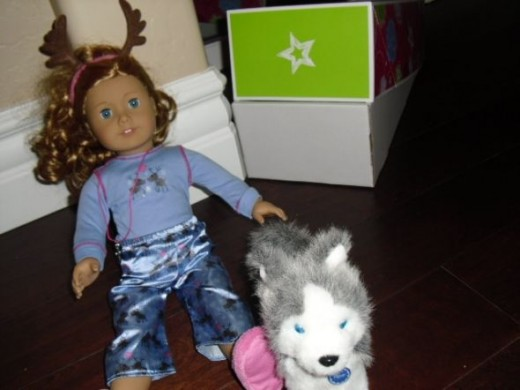 American Girl Girl With Dog, Pepper