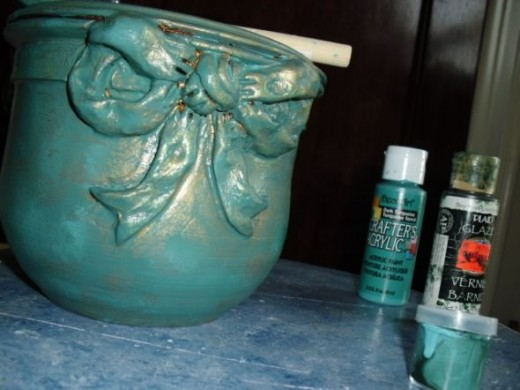 Applying Teal Glaze