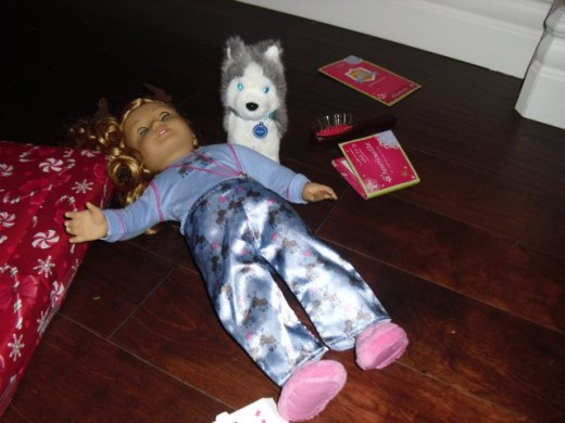 American Girl Doll With Dog, Pepper