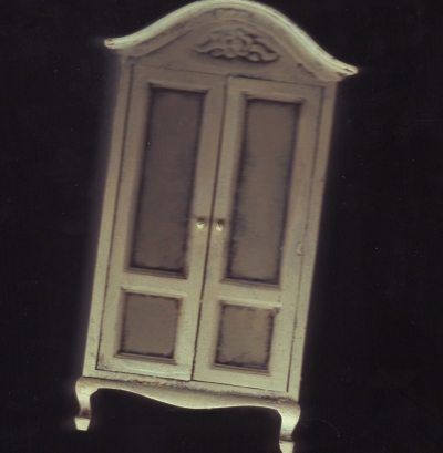Distressed Ivory Cabinet