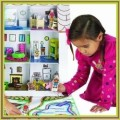 Cardboard Doll House: For Budding Artists