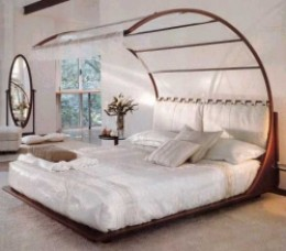 Elegant, Modern Canopy Bed