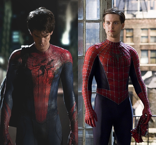 Andrew Garfield and Tobey Maguire Costume Comparison