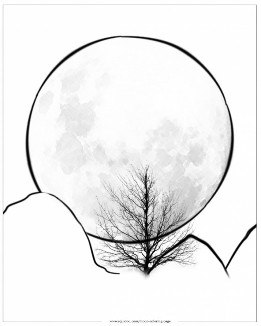 the moon coloring pages - photo#7