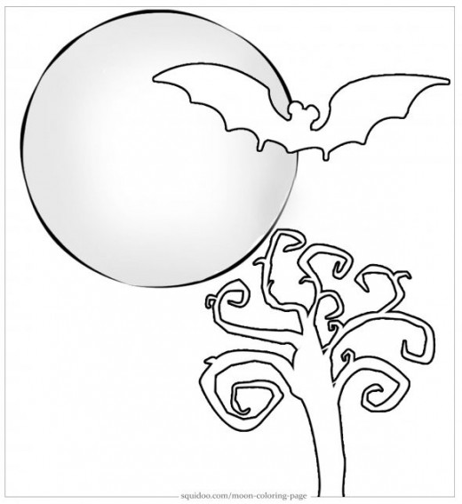 holloween moon coloring pages - photo#31