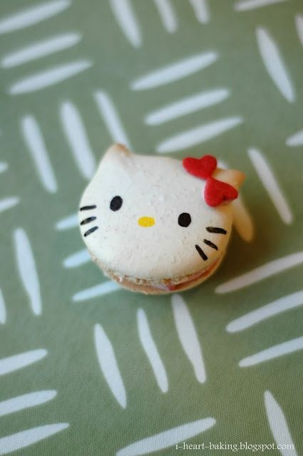 Hello Kitty Macarons by I-Heart-Baking