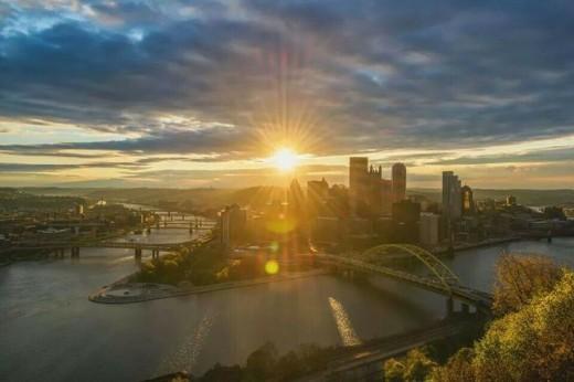 A beautiful Pittsburgh sunrise.