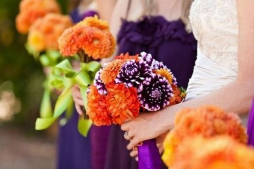 Purple and Orange Rustic Wedding Color Palette