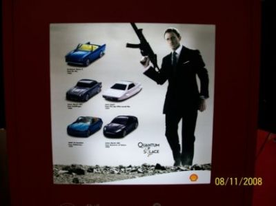 Quantum Of Solace Poster Showing Five Limited 007 Cars