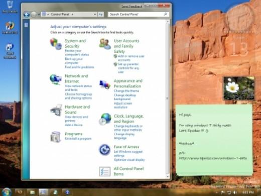 Control Panel Of Windows 7