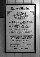 No Thieves, Fakirs, Rogues, or Tinkers! No Skulking Loafers or Flea-Bitten Tramps!!