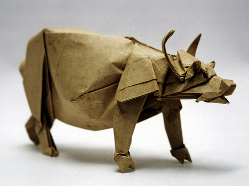 IN HONOR OF THE CHINESE WATER BUFFALO (Image Credit: Joseph Wu Origami)