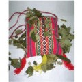 Typical Andean bag with coca leaves