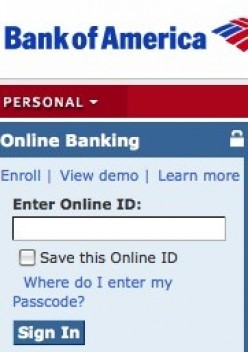 Bank of America Online Banking Sign In