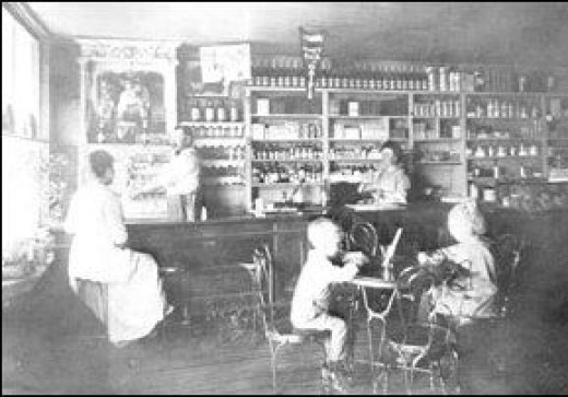 old picture soda fountain