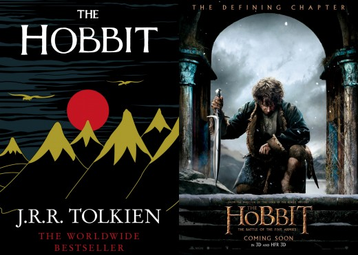 The Hobbit; or, There and Back Again by J.R.R. Tolkien; The Hobbit: The Battle of Five Armies Poster