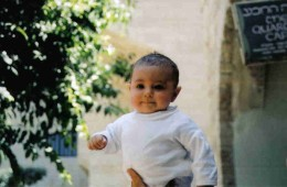 Jewish baby in the Jewish Quarter in the Old city of Jerusalm