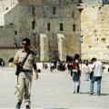 Soldier at the Western Wall in the Old City of Jerusalem