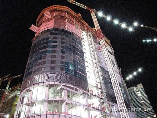 The Harmon at CityCenter nearing completion in December 2008