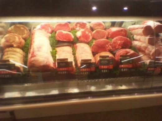 Meat service case