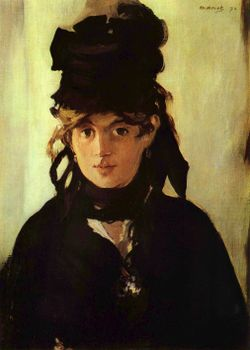 Morisot by Manet