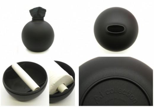 BlackToilet Paper and Paper Pot