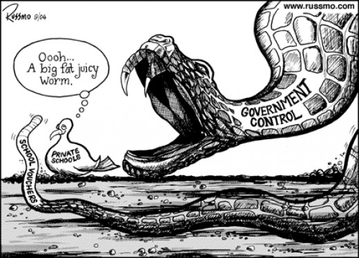 Even some conservative groups are against them as this political cartoon illustrates.