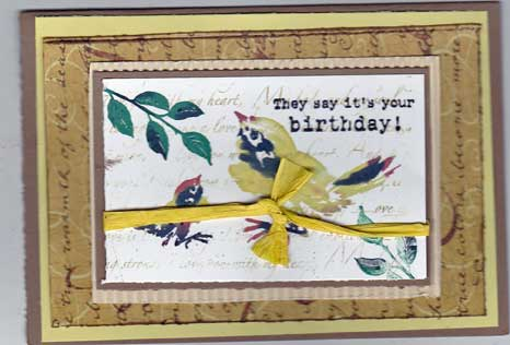 Card made using supplies and techniques from Local King Rubber Stamps