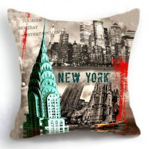 New  York City Scene Accent Pillow Cover