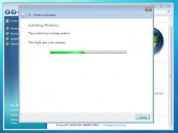Activating Windows 7
