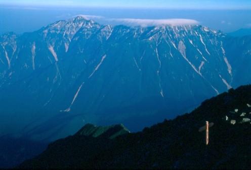 View from Karasawa dake, Kita Alps, Japan.