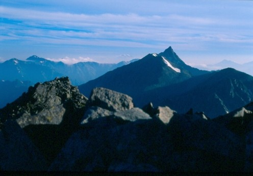 Yarigatake from Karasawa dake, Kita Alps, Japan.